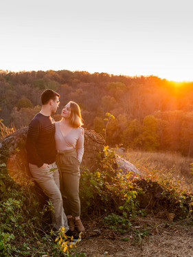 Sunset Gettysburg Engagement Session // Gina & Paul