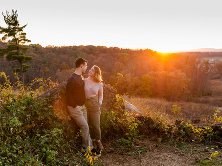 Sunset Gettysburg Engagement Session // Gina & Paul