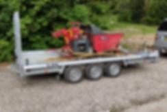 Hulco Terrax 3 3500 kg Maskintrailer