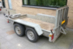 Indespension 2700 kg Maskintrailer