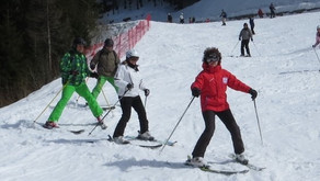 Even adults can learn to ski…