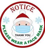 Window-Stickers-Santa-Claus-Wearing-A-Ma