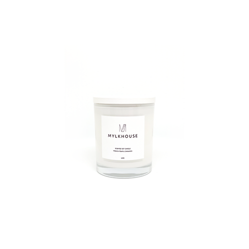 FRENCH PEAR + CINNAMON SOY CANDLE