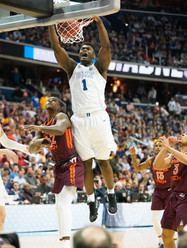 An image of Zion Williamson taken by Robert Banez