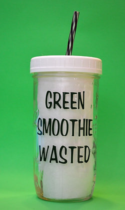 Green Smoothie Wasted Jar