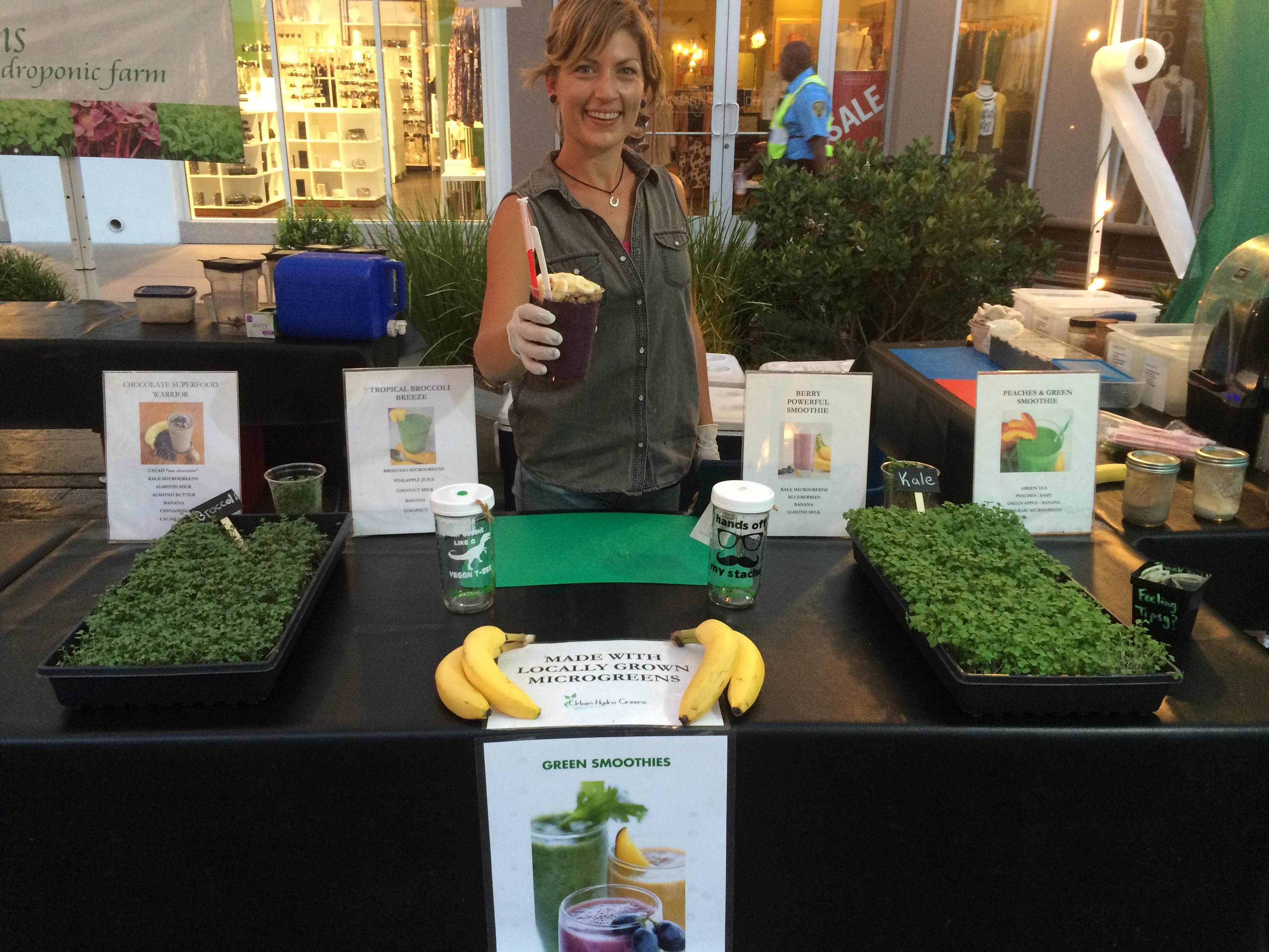 Microgreens smoothies made fresh