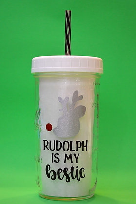 Rudolph Is My Bestie Jar