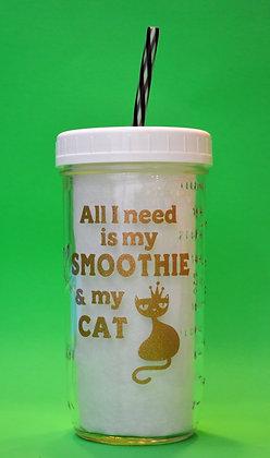 Royal Cat Smoothie Jar