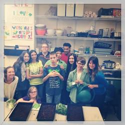 Teaching kids how to grow microgreen