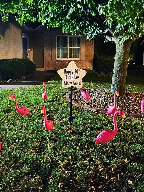 Flamingo Lawn Flocking