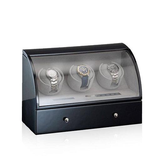 DESIGNHÜTTE UHRENBEWEGER BASEL 3 LCD - SCHWARZ