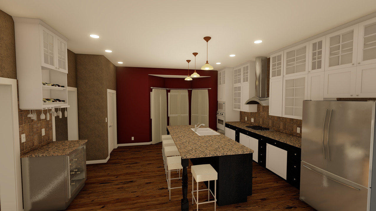 Kitchen 1 with Proposed Materials & Colors