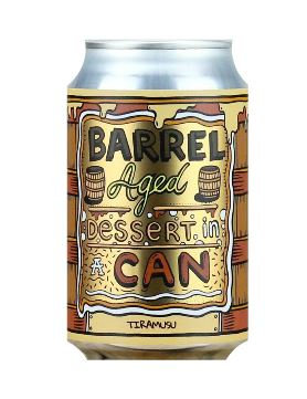Barrel Aged Dessert In A Can Tiramisu | 11.5% | Imperial Stout