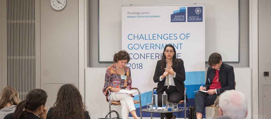 EOF CEO Amel Karboul speaks at the Blavatnik School's Challenges of Government Conference