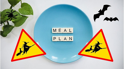 Tvorba stravovacího plánu + Čarodějnické menu