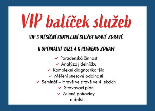VIP balíček služeb