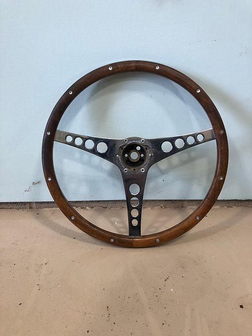 1956-C1-Corvette, (modified) Steering Wheel (Wood Walnut)