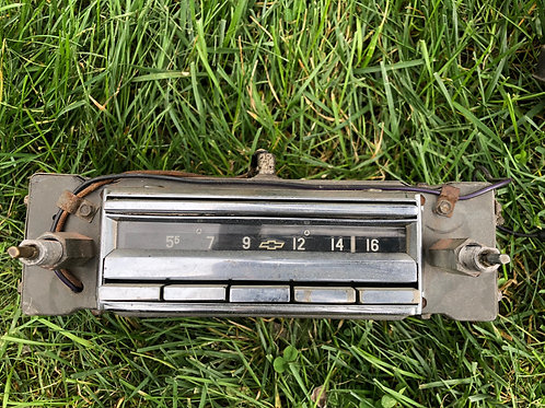 1956-C1-Corvette, Original Wonder Bar Radio & Power Supply