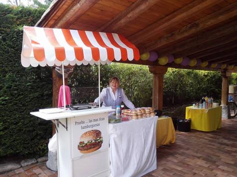 Alquiler de carrito de hamburguesas