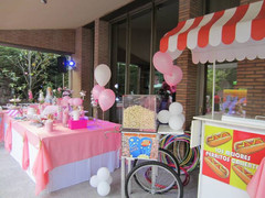 mesa dulce para cumple y carritos sorpresa