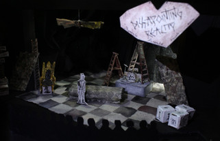 Scenic Design  Model  |  Q: A Tragedy  |  University of Louisiana at Lafayette