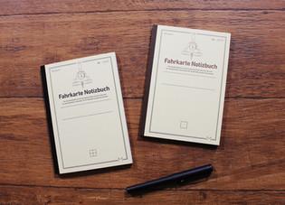 【新商品】Fahrkarte Notizbuch