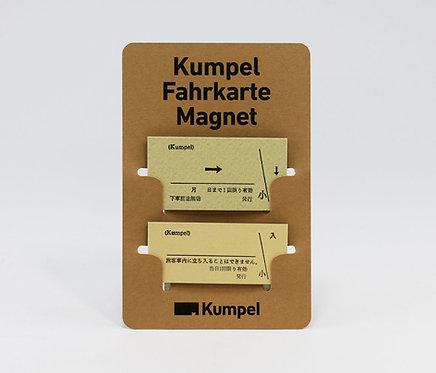 Fahrkarte Magnet