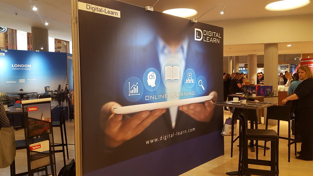 Digital Learn stand at the associations world congress in Antwerp 2018
