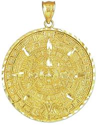 Mayan Astronaut - Calendar Pendant.bmp