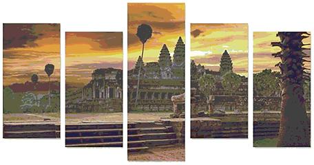 Angkor Wat Wall Canvas.bmp