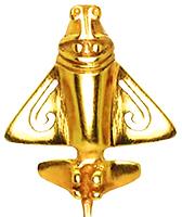 Quimbaya Airplanes - Gold Pendant.png
