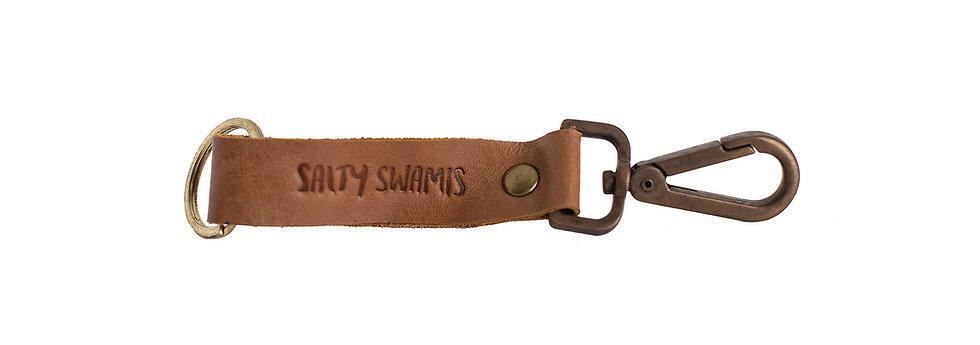 Salty Swamis Leather Keychain