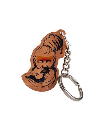 Salty Swamis Wooden Keychain