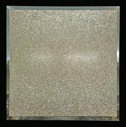 Square Mirror with Gold Glitter