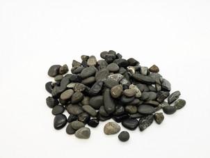 Vase Fillers - River Rocks, Small, Black