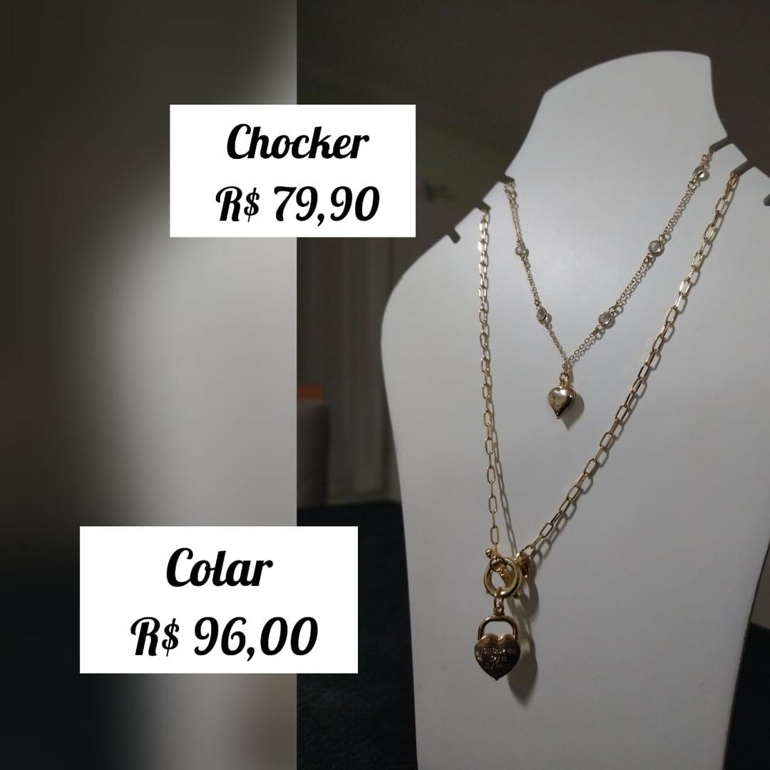R$ 79,90 (chocker) / R$ 96 (colar)