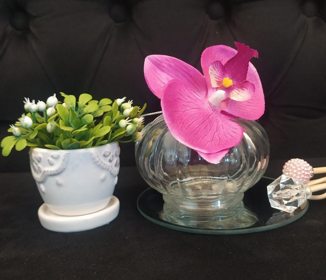 Aromatizador Dijon 200ml Orquídea R$ 90 / Vasinho cerâmica R$ 20 / Base espelho P R$ 20