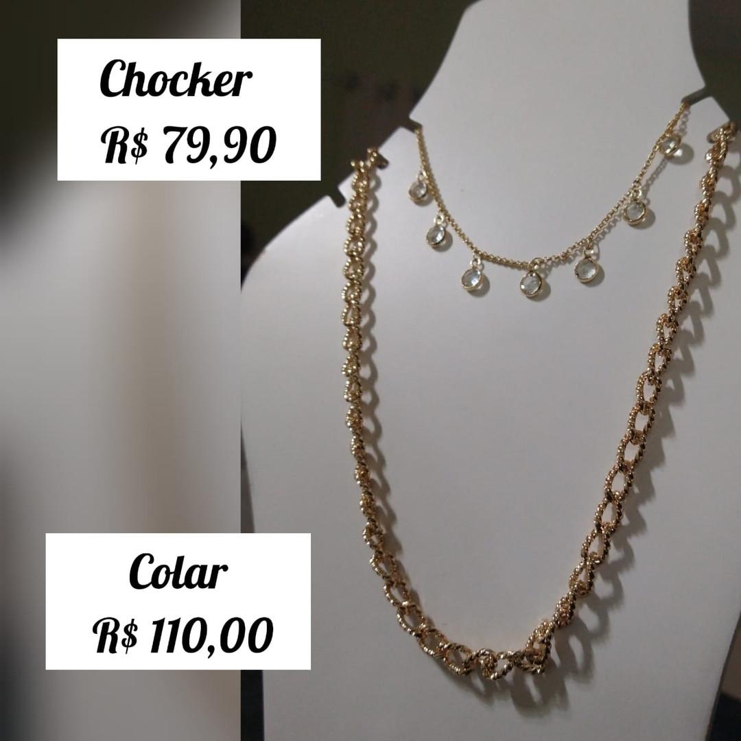 R$ 79,90 (chocker) / R$ 110 (colar)