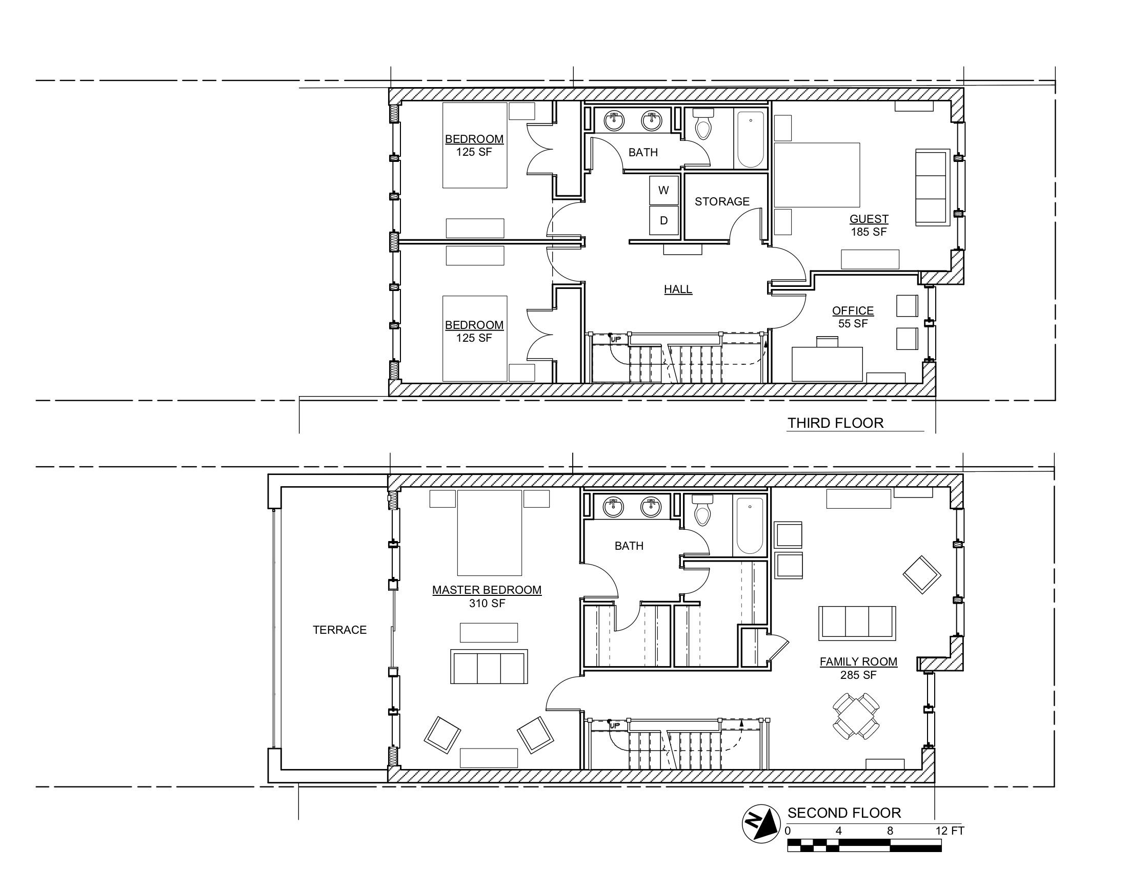 REEVE PLANS 2ND & 3RD FLOORS