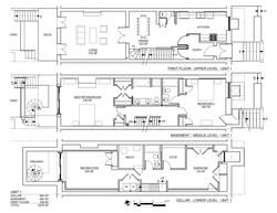 Schermerhorn plans Cellar Basement & 1st