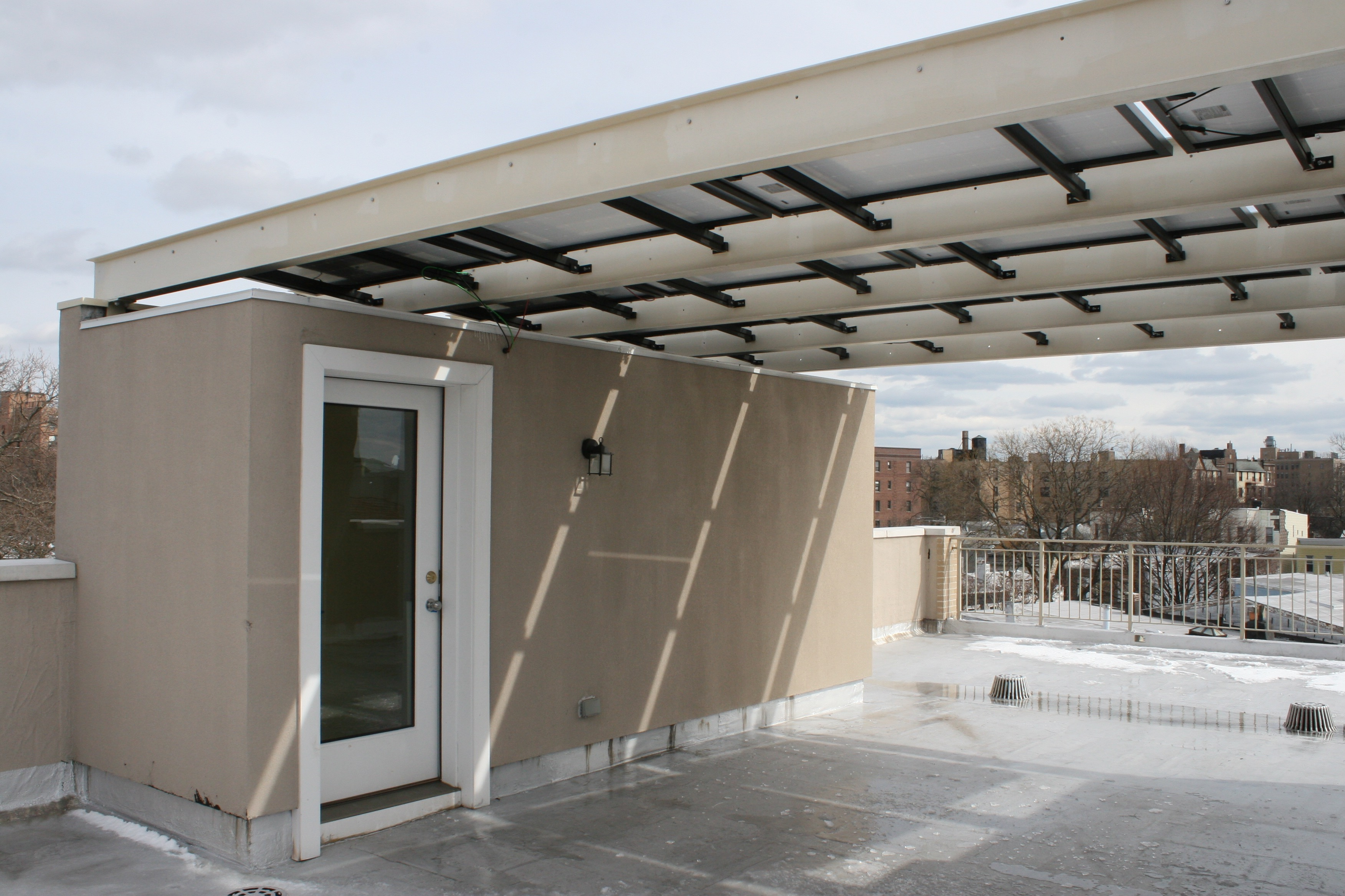 ROOF BULKHEAD AND SOLAR ABOVE