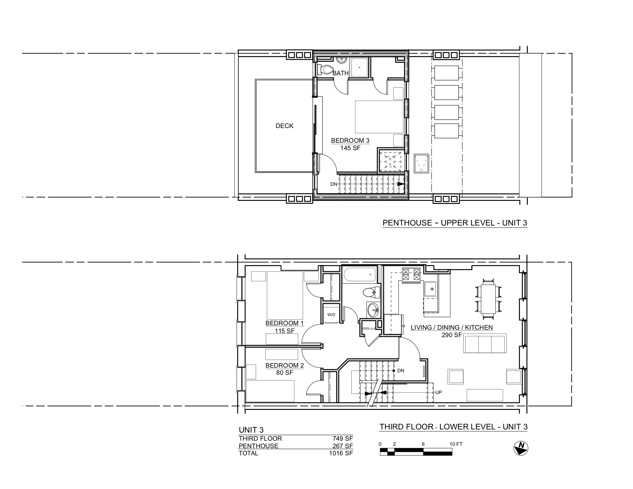 ST JAMES PLANS 3RD & PENTHOUSE FLOORS