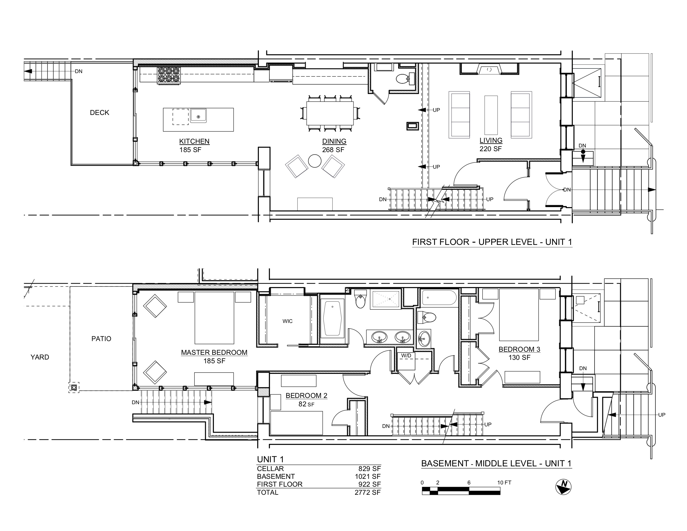 ST JAMES PLANS BASEMENT & 1ST FLOORS