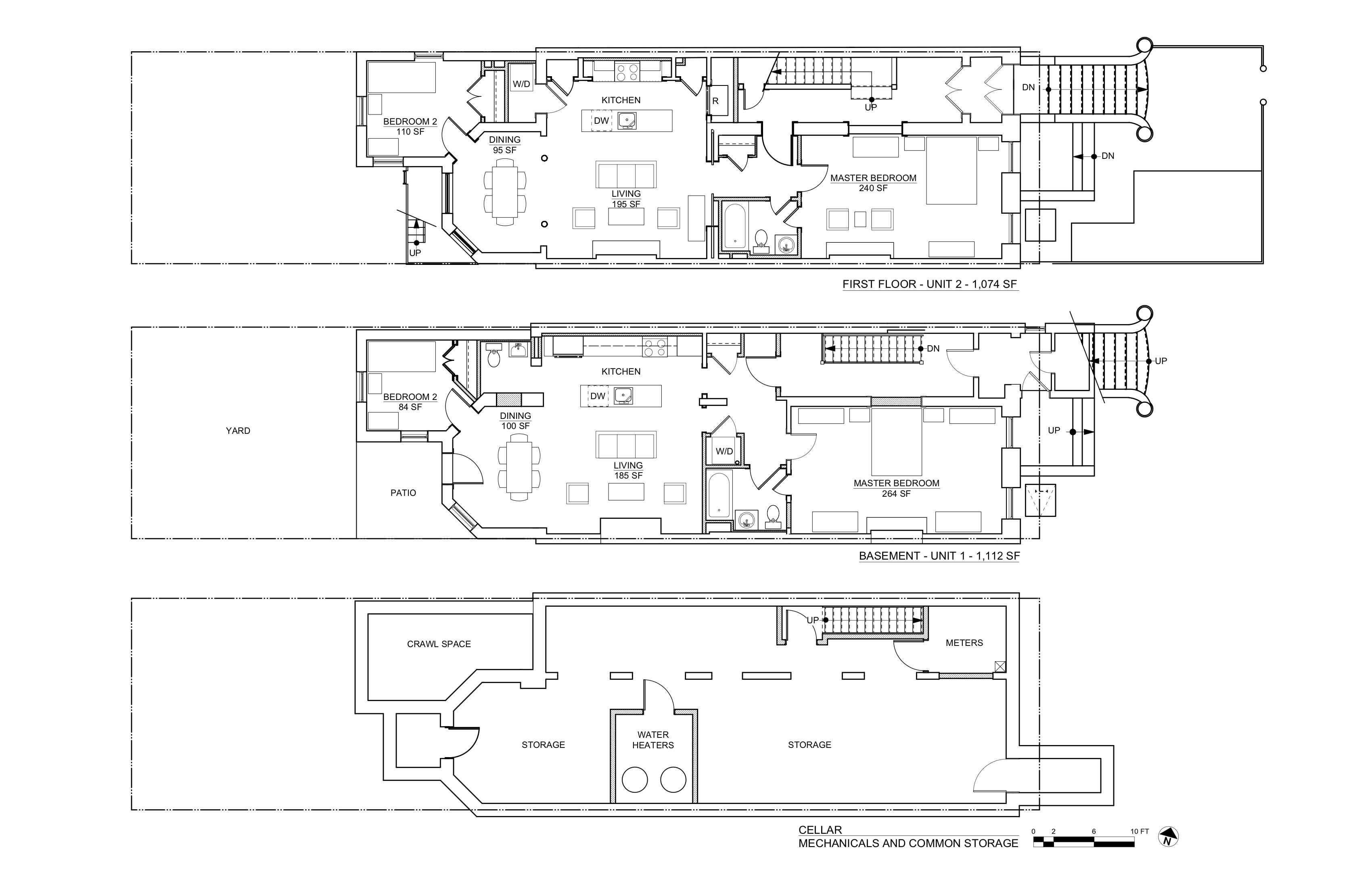 CLINTON PLANS CELLAR BASEMENT 1ST FLOORS