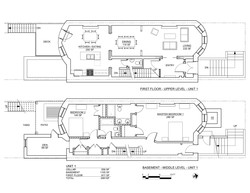STERLING PLACE PLANS BASEMENT AND 1ST FL