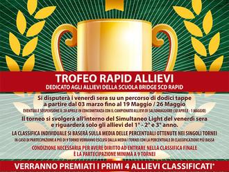 È in partenza il Trofeo Rapid Allievi 2017