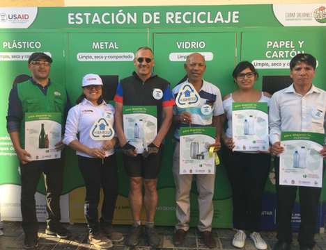 Primera estación de reciclaje en El Carmen, Ica