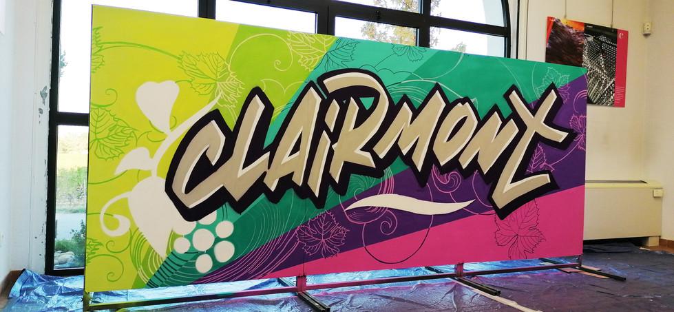 Décor graff sur panneau Cave de Clairmon