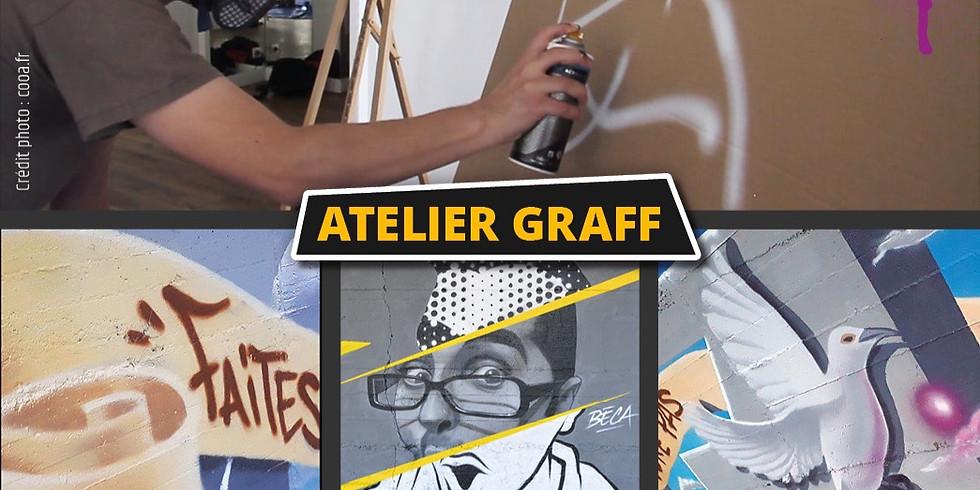 Ateliers graff d'initiation à la peinture aérosol janvier 2020