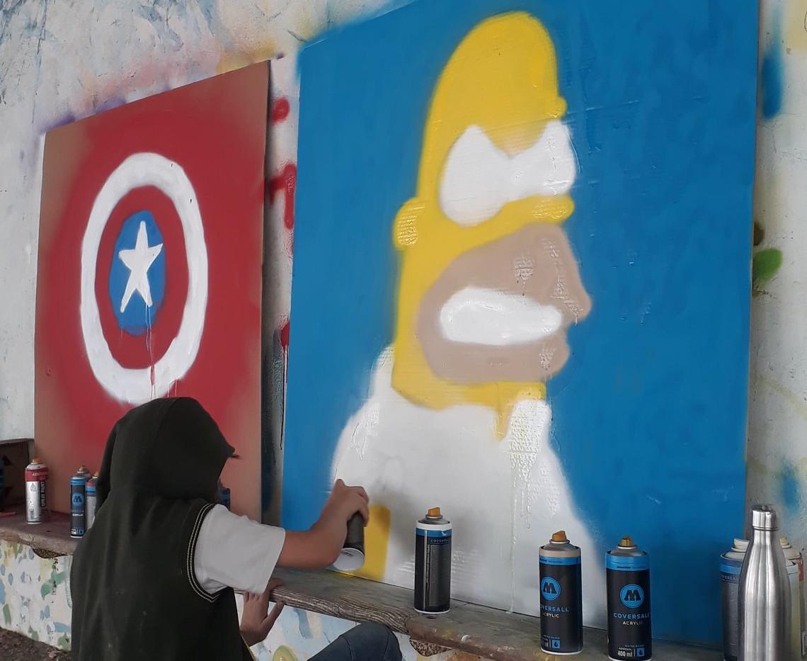 Ateliers graff d'été avec Anim2prox26, pour Valence Romans Agglo